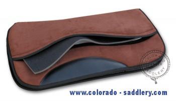 High-Tech Westernpad braun Sandwich-Korrektur Sattelpad Silverado