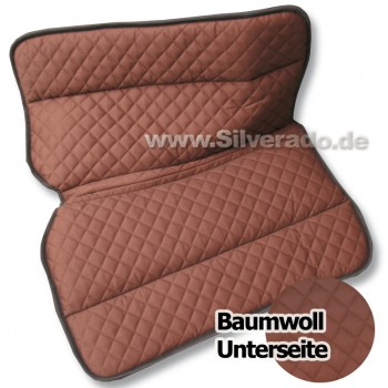 2-6630-1-E NEU schwarz, gestepptes Baumwollpad Sandwich-Korrektur Westernpad Silverado