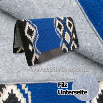 2-6907-E blau Show Filzpad echt Wollblanket Westernpad