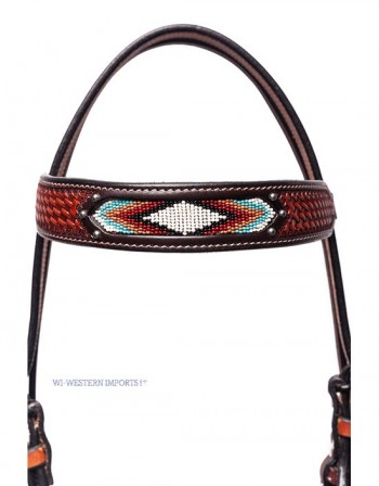 BASKET TOOLED FANCY HEADSTALL