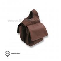 Doppelte Horntasche für Westernsattel, mit Klettverschluß von Silverado