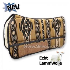 2-6600-E-3 beige Sonder MODELL (Limited Edition) echt Wolle Westernpad Sandwich-Korrekturpad