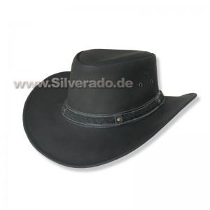 4-570-1 schwarz formbarer Lederhut Glattleder S (54-55 cm)