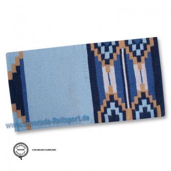 2-115-8 Blau Showdecke Blanket Echt Neusealand Wolle