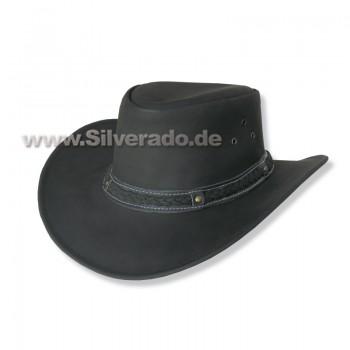 4-570-1 schwarz formbarer Lederhut Glattleder